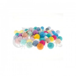 Lot de 10 perles RONDES en silicone 8mm