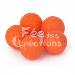Ballon de basket orange en silicone