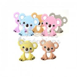 Koala rose de dentition en silicone
