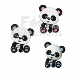Panda rose de dentition en silicone