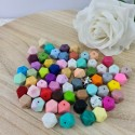 Perle hexagone 14mm (35cts)