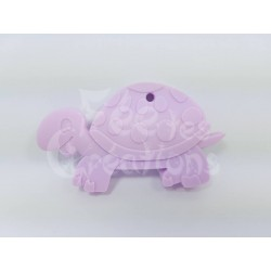 Tortue lila clair de dentition en silicone